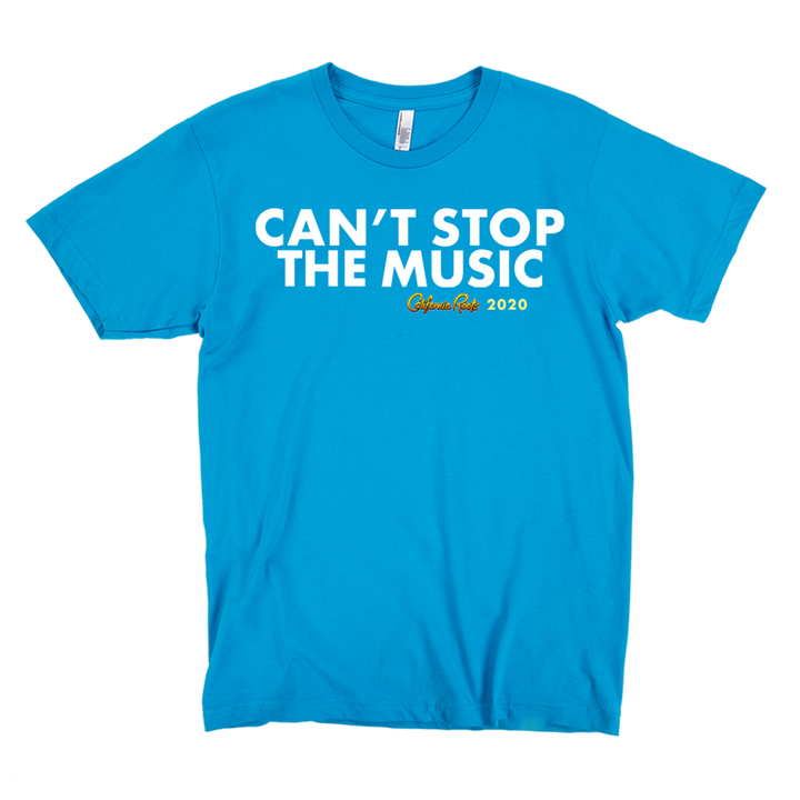'Can't Stop The Music' Unisex Shirt (Teal) - California Roots Brand