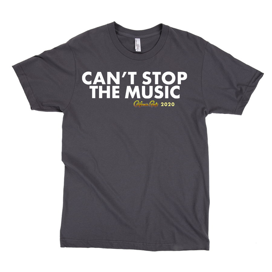 'Can't Stop The Music' Unisex T-Shirt (Black) - California Roots Brand