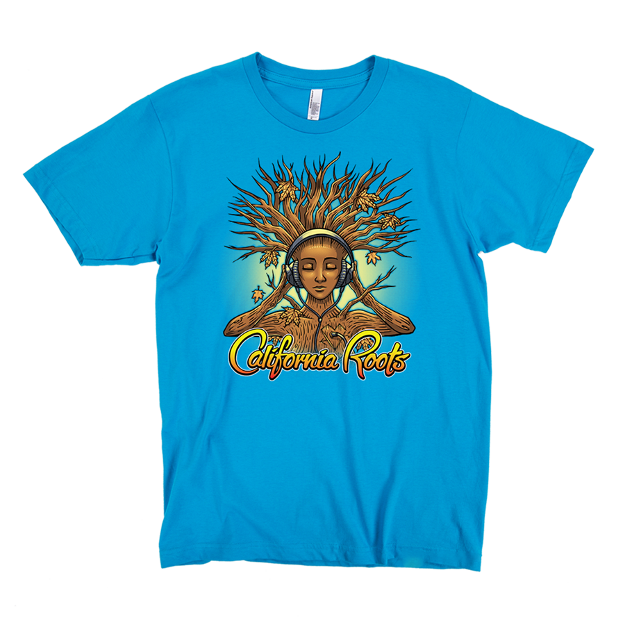 'Roots Goddess' Unisex TShirt (Teal) - California Roots Brand