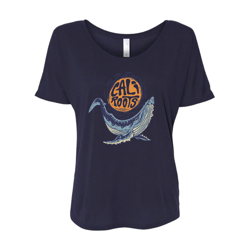 Foral Whale - Slouchy T