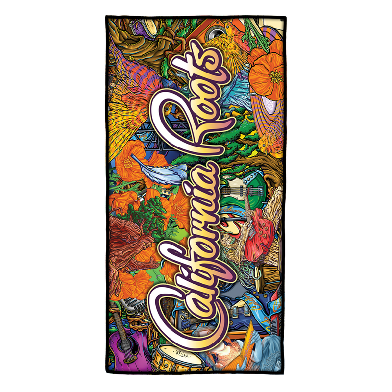Cali Roots Art Collage - Slow Tide Towel