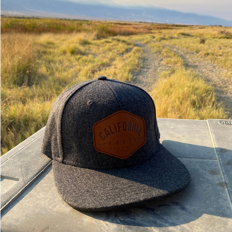 Cali Roots Flannel with Leather Patch - Hat