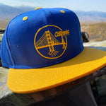 Rooted Bridge - Snap Back hat (Blue and Yellow)