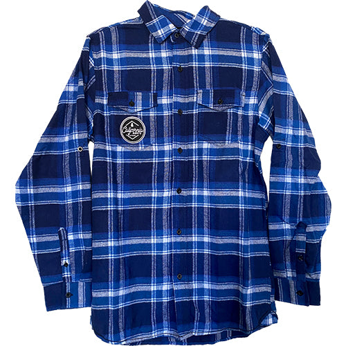 Cali Roots Clothing Co - Plaid Flannel - Blue/Blue