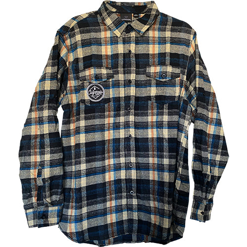 Cali Roots Clothing Co - Plaid Flannel - Blue/Brown