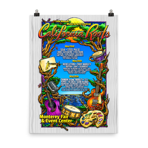 Official Cali Roots Festival Poster (2014) - California Roots Brand