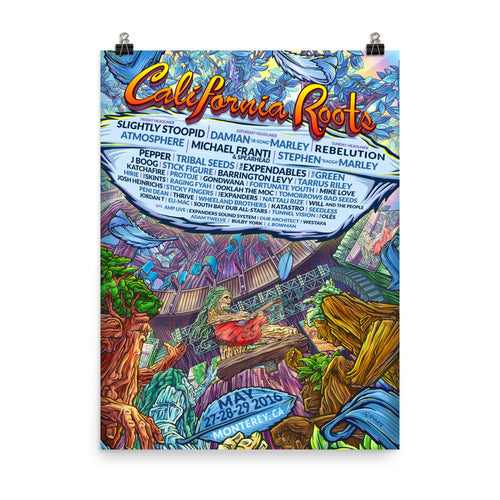 Official Cali Roots Festival Poster (2016) - California Roots Brand