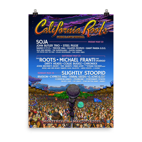 Official Cali Roots Festival Poster (2015) - California Roots Brand