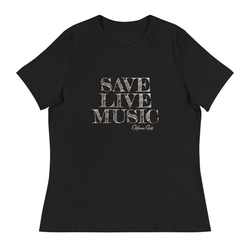 Save Live Music Women's Relaxed T-Shirt