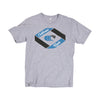 Retro Wave in Grey/Blue - TShirt