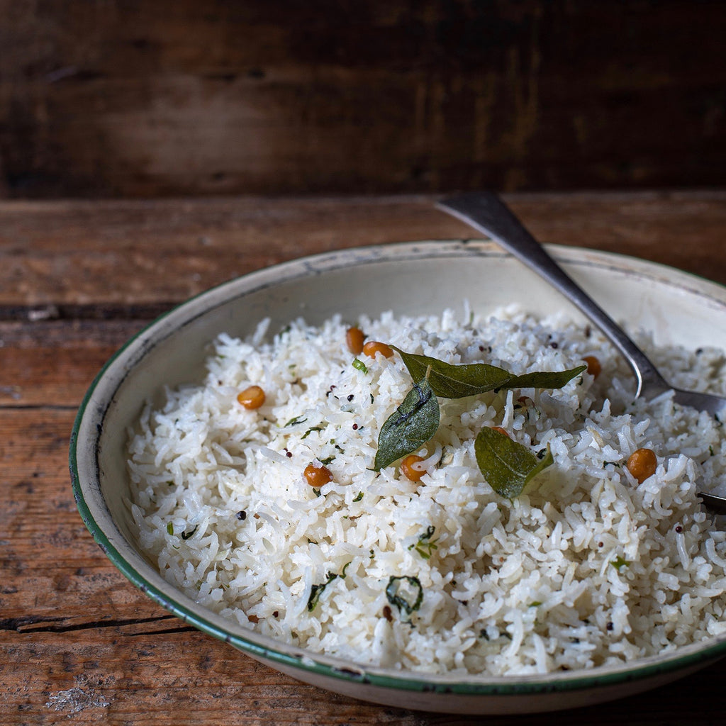 Coconut rice South Indian style