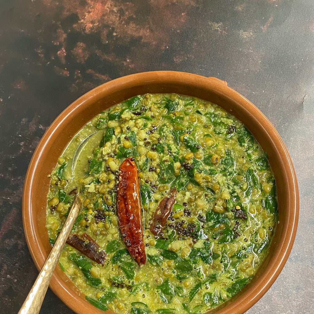 Moringa leaves moong bean curry