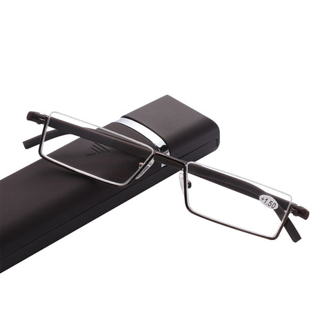 No Bezel Blue Light Stylish Reading  Glasses With Case.