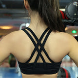 Mermaid Curve Sexy Cross Back Sports Bra