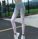 Breathable Ombre Colour Fitness Leggings