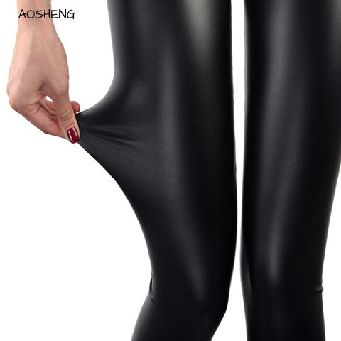 Casual Faux Leather Leggings