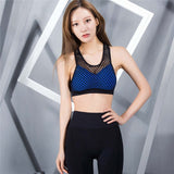 Mesh Hollow Out Breathable Sports Bra
