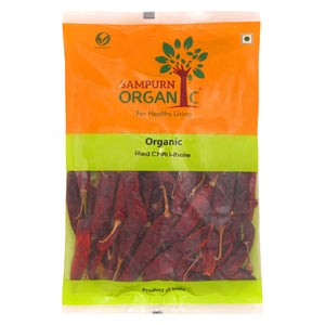 Organic Red Chilli Whole 100 g