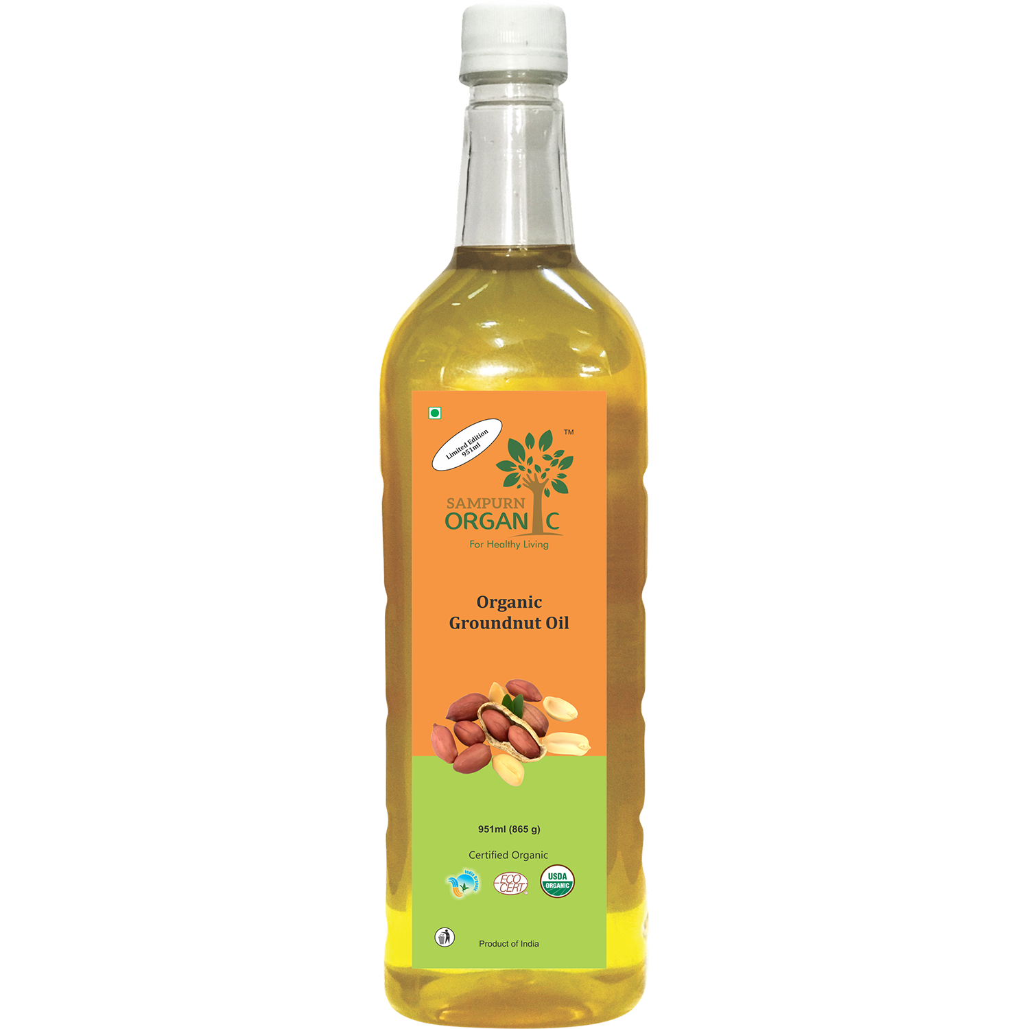 Sampurn Organic Groundnut Oil 951 ml
