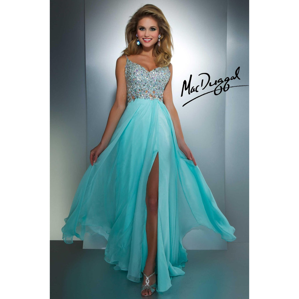 Mac Duggal 64364 Aqua 4 - Move Over Princess