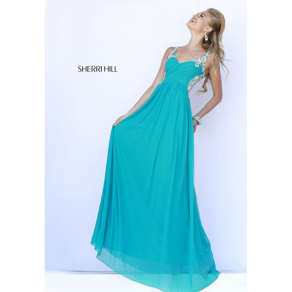 Sherri Hill 5202 Teal 10 - Move Over Princess