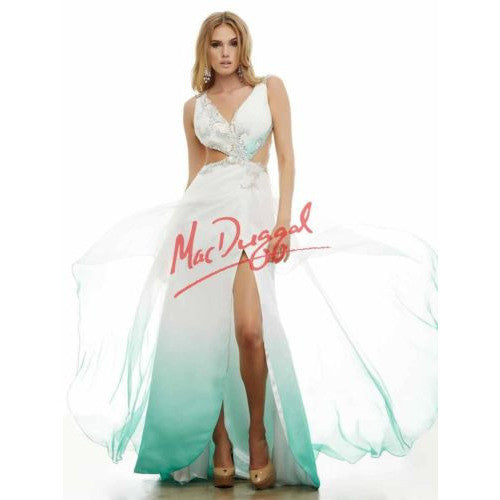 Mac Duggal 65166 Teal Ombre 6 - Move Over Princess