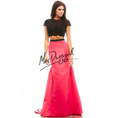 Mac Duggal 48281 Lipstick/Black 0 - Move Over Princess