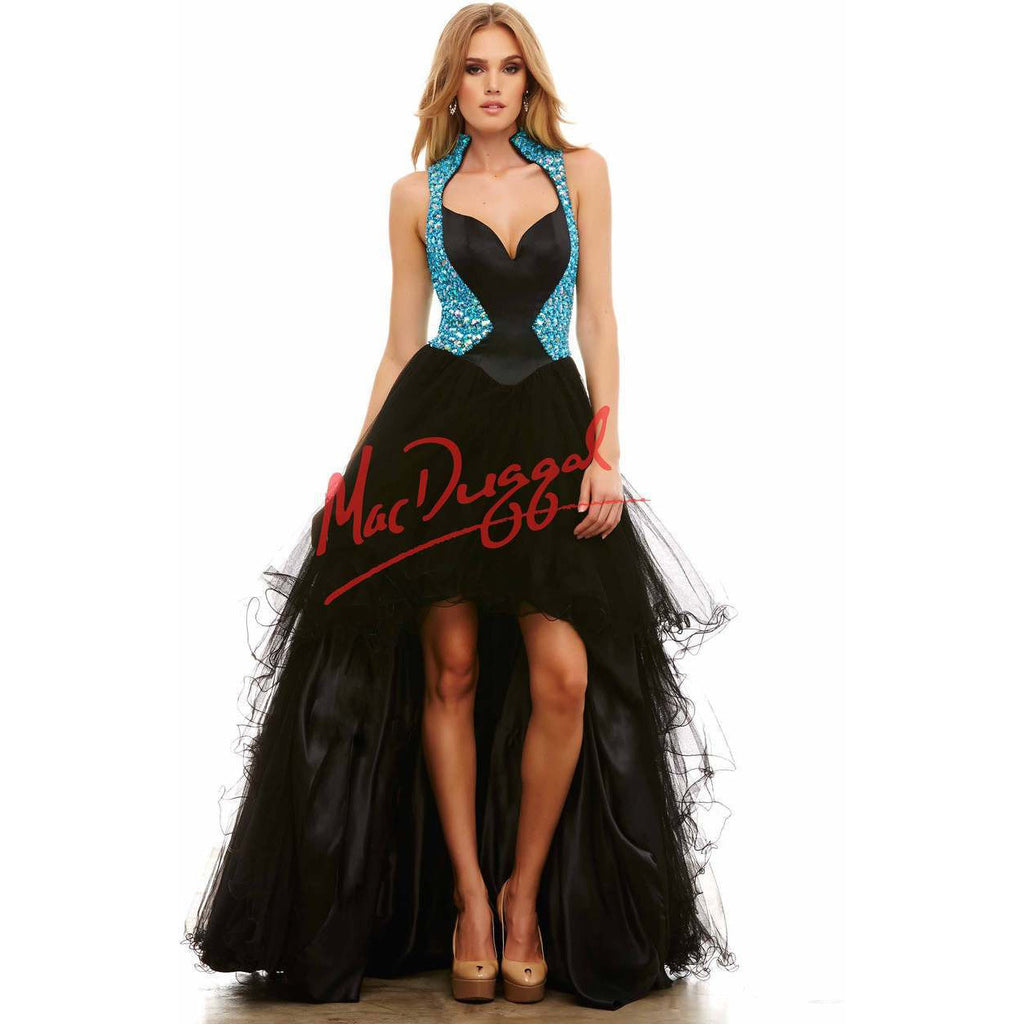 Mac Duggal 48328 Black/Aqua 0 - Move Over Princess