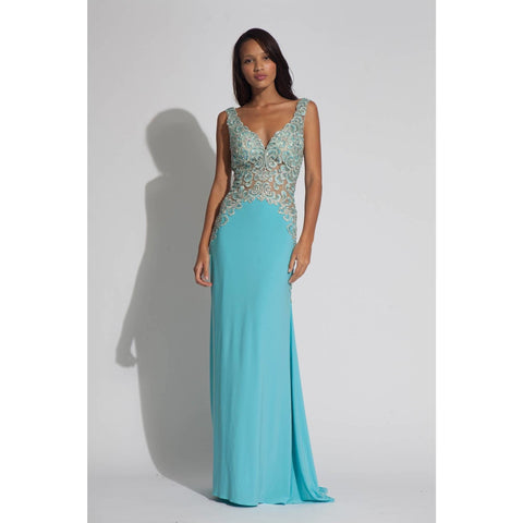 Jovani 92661 Turquoise 12 - Move Over Princess