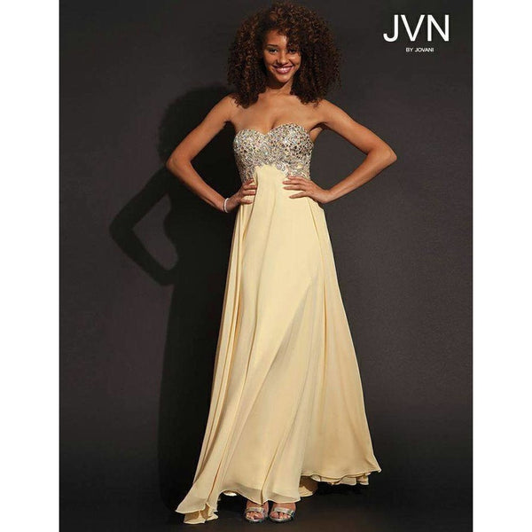 Jovani JVN 92870 Light Yellow 18 - Move Over Princess