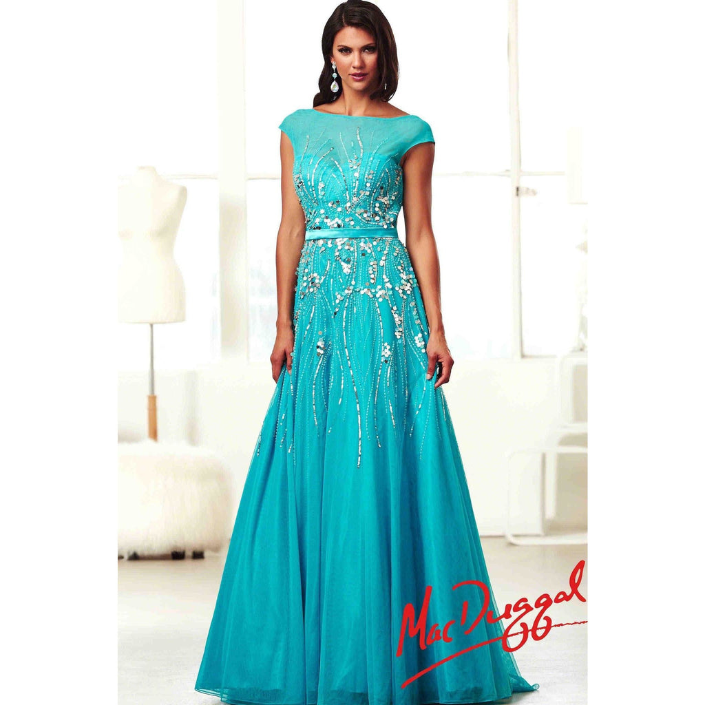 Mac Duggal 10011 Turquoise 10 - Move Over Princess