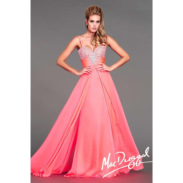 Mac Duggal 64828 Neon Coral 16 - Move Over Princess