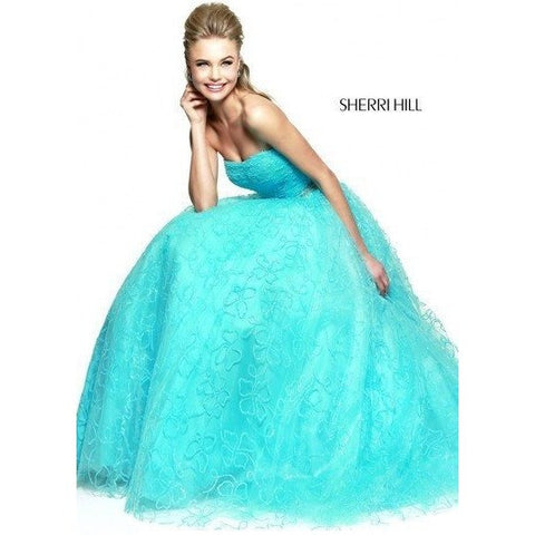 Sherri Hill 21292 Aqua 0 - Move Over Princess