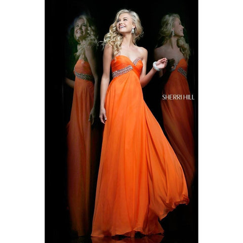 Sherri Hill 3912 Orange 4 - Move Over Princess