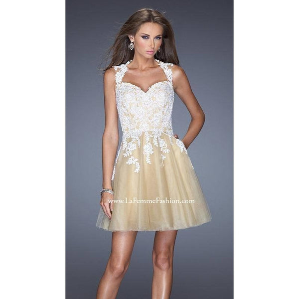 La Femme 19753 White/Nude 6 - Move Over Princess