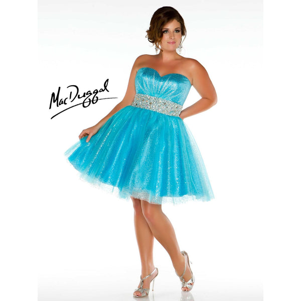 Mac Duggal 64378 Turquoise 18 - Move Over Princess