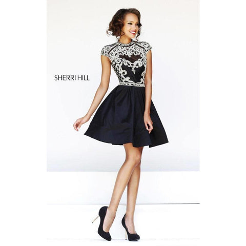 Sherri Hill 4300 Black 0 - Move Over Princess