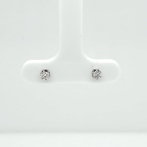 14K White Gold Diamond Stud Earrings .18ct SI2 GH