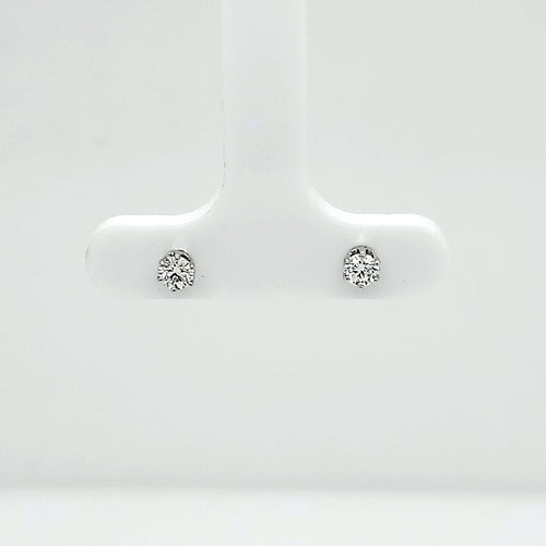14K White Gold Diamond Stud Earrings .25cttw SI2 GH