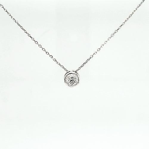 14K White Gold Diamond Pendant .50ct I1 H