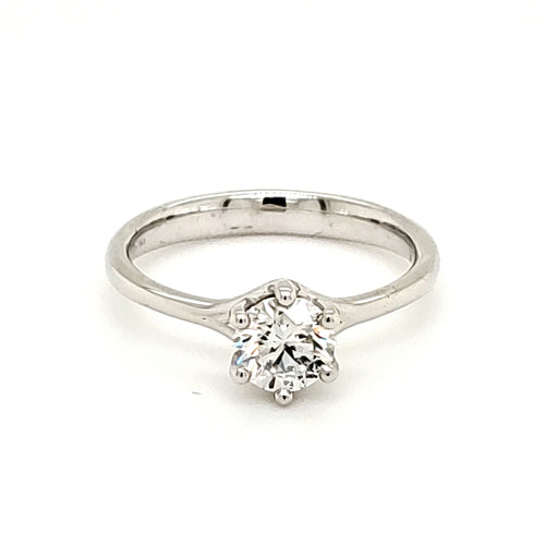 14K White Gold 3/4ct Lab Grown Diamond Engagemnt Ring