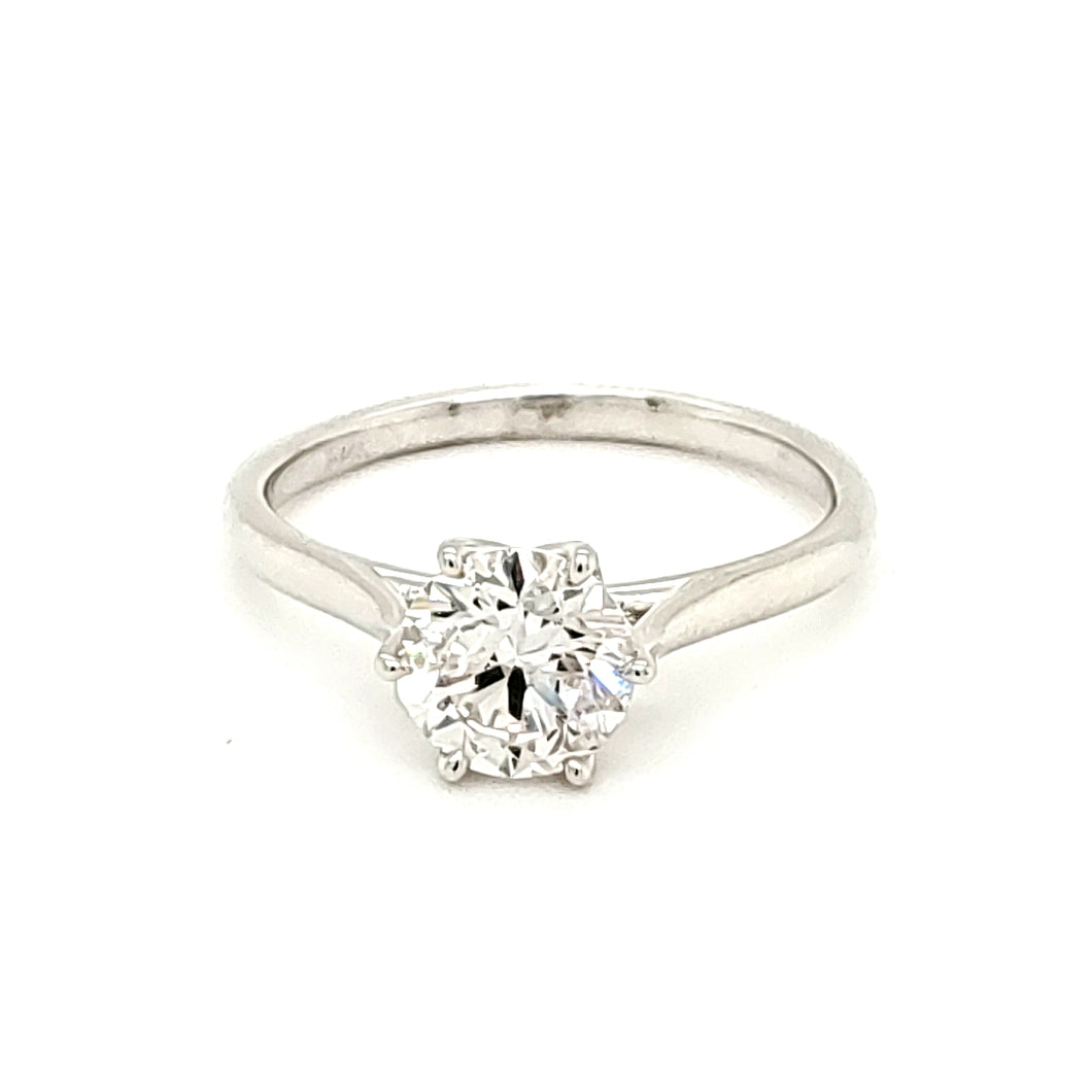 14K White Gold 1.2CT Lab Grown Diamond Engagement Ring