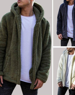 Thick Hoodies Tops Fluffy Fleece Fur Jacket