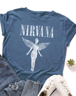 Nirvana Print Short Sleeve Tee