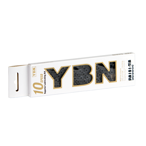 YBN 10sp Ti-Nitride Black Chain SLA101