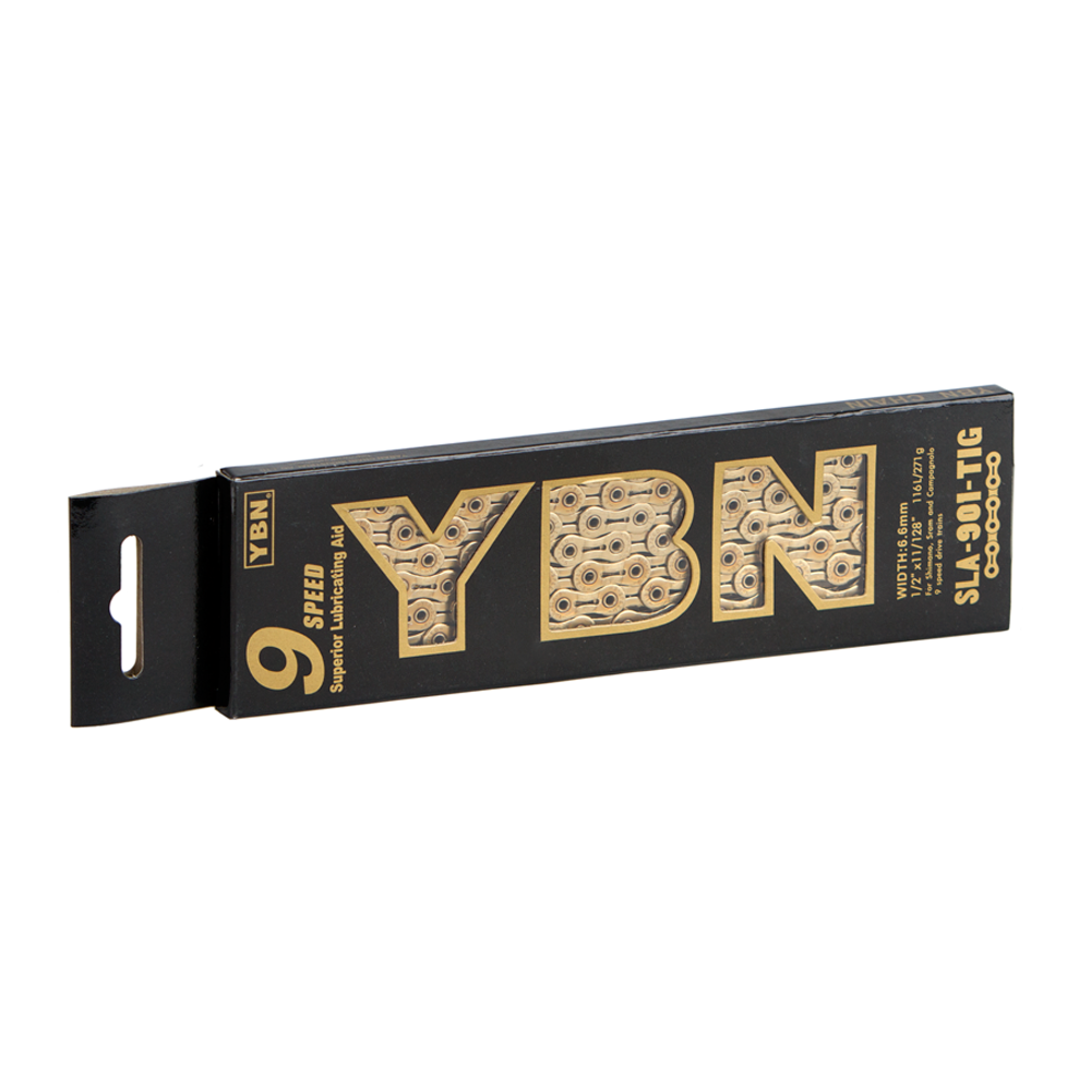 YBN 9sp Ti-Nitride Gold Chain SLA901