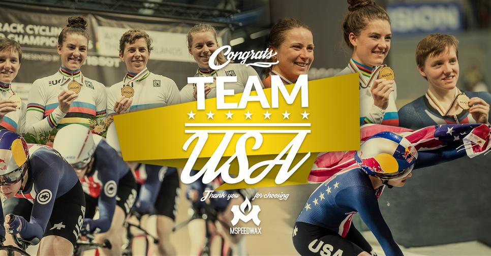 Thank you Team USA for choosing MSPEEDWAX