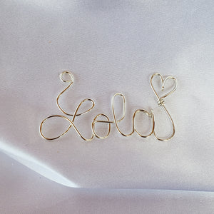 Wire wrapped name necklace