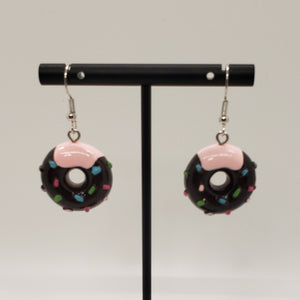 Sprinkle donut drop earrings
