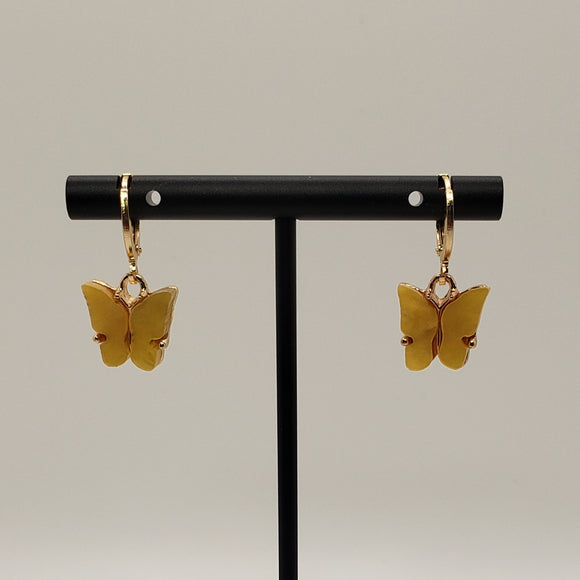 Butterfly hoops (yellow)